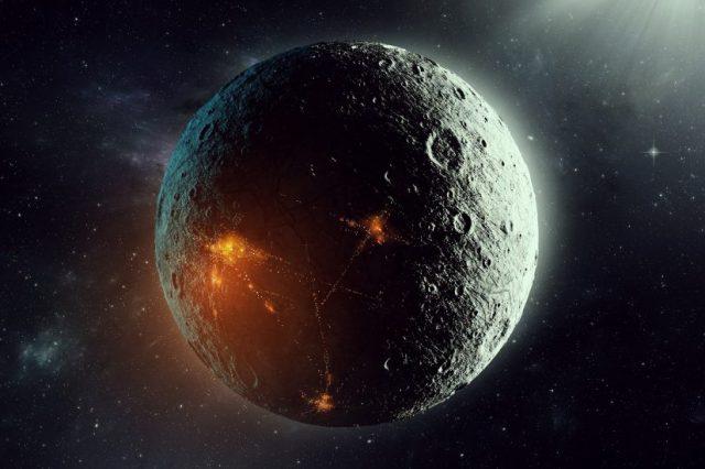 An artists rendering of a planet colonized by intelligent alien beings. Shutterstock.