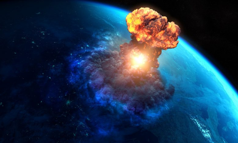 An artists rendering of an explosion on Earth. Shutterstock.