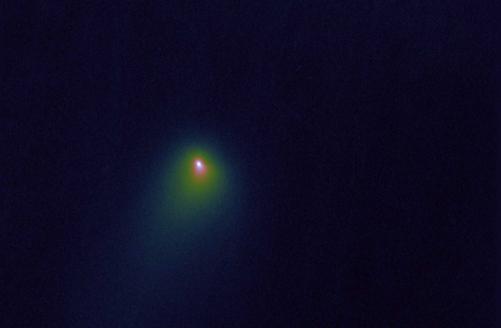 An image of the interstellar comet 2l/Borisov caputred with the help of the Hubble Space Telescope in October 2019. Image Credit: Paul Kalas.