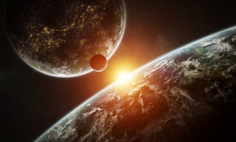 An artists rendering of distant exoplanets. Shutterstock.