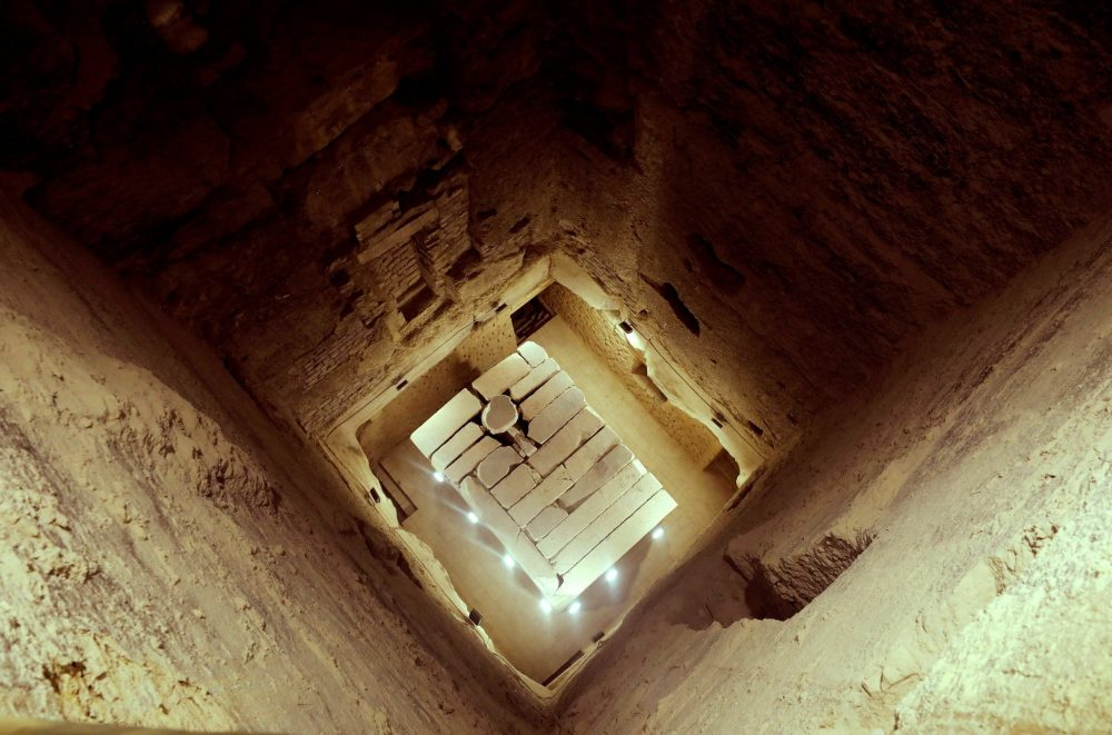 Inside the core of the Step Pyramid at Saqqara. Image Credit: Reuters.