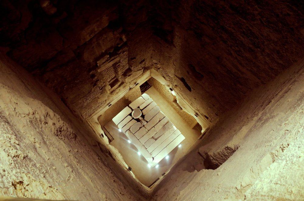 Inside the core of the Step Pyramid at Saqqara. Image Credit: Reuters.