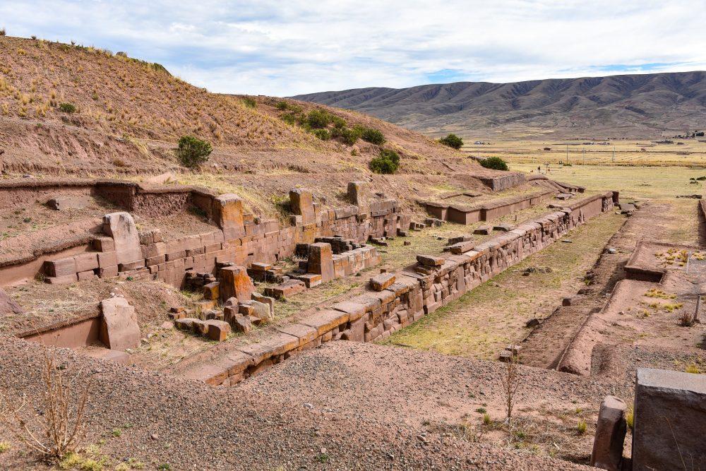 The entrance to the Step Pyramid Akapana at Tiahuanaco. Shutterstock.