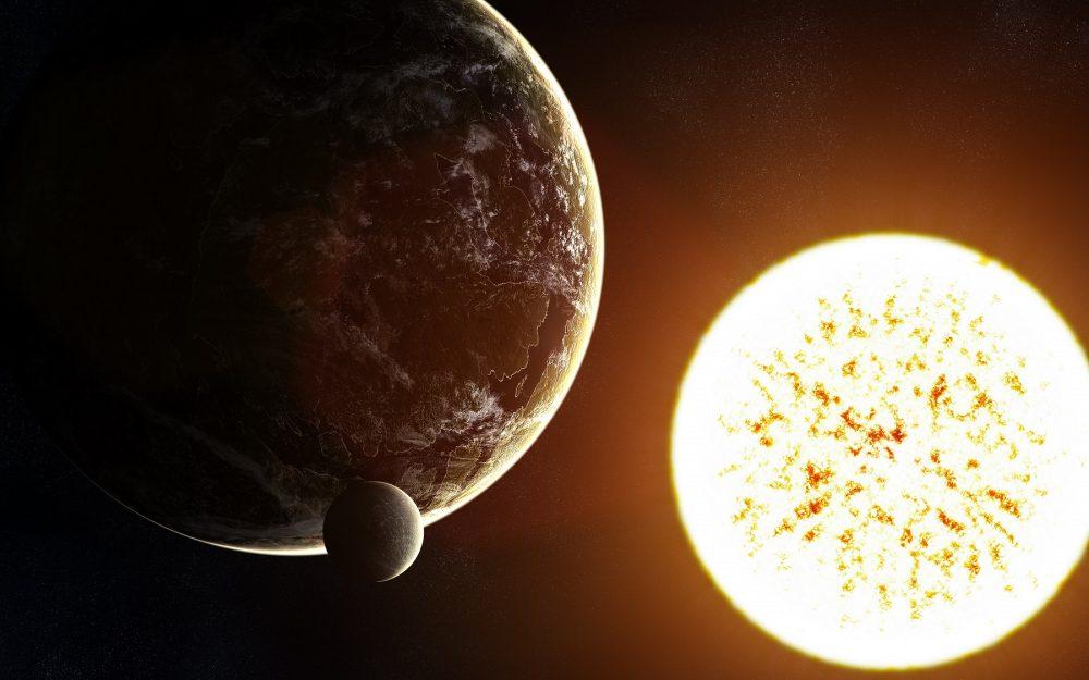 An artist's rendering of a distant exoplanet. Shutterstock.