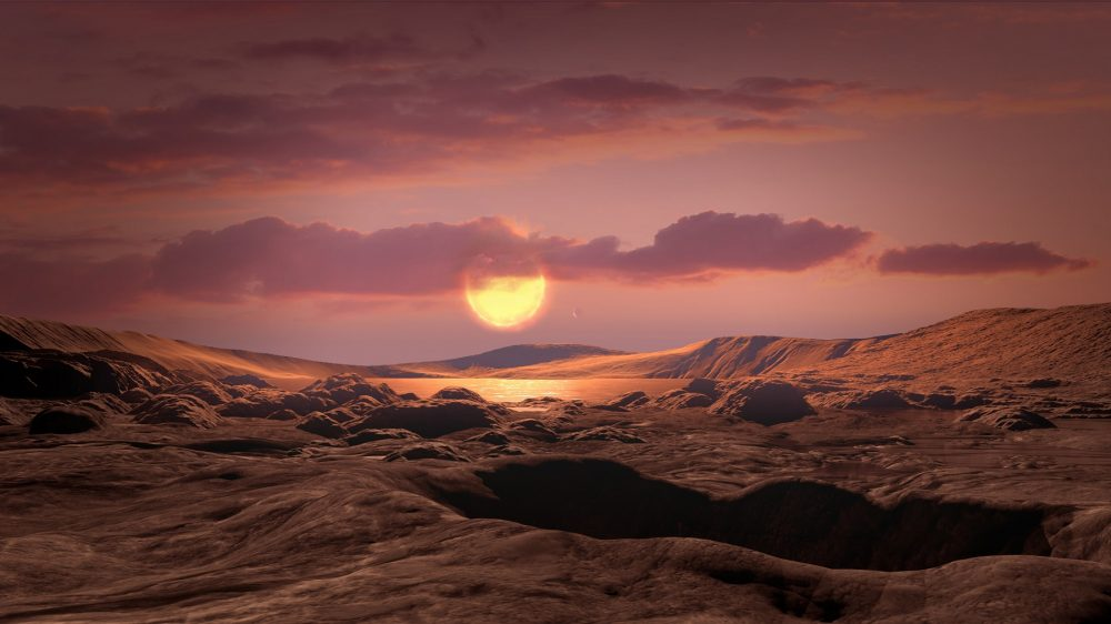 An illustration of what Kepler-1649c could look like from its surface. Image Credit: NASA/Ames Research Center/Daniel Rutter.
