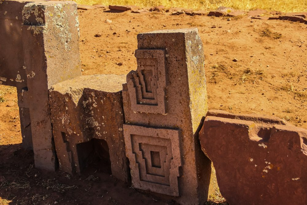 An image of the precisely carved stones at Puma Punku. Shutterstock.