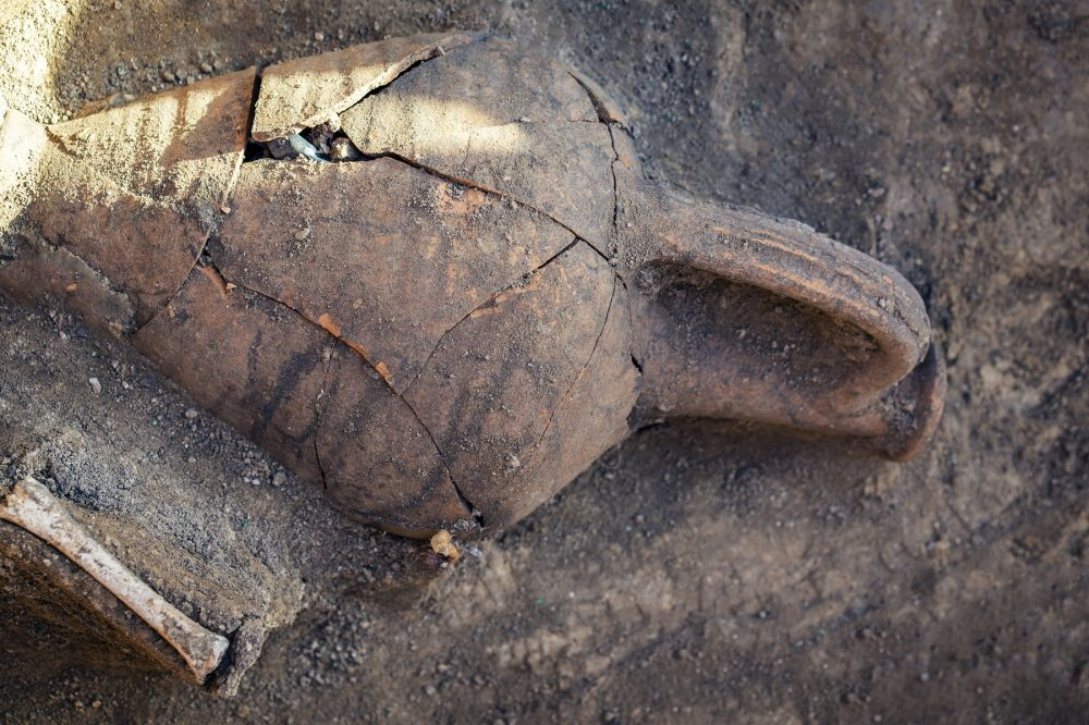An image of a prehistoric ceramic jug. Shutterstock