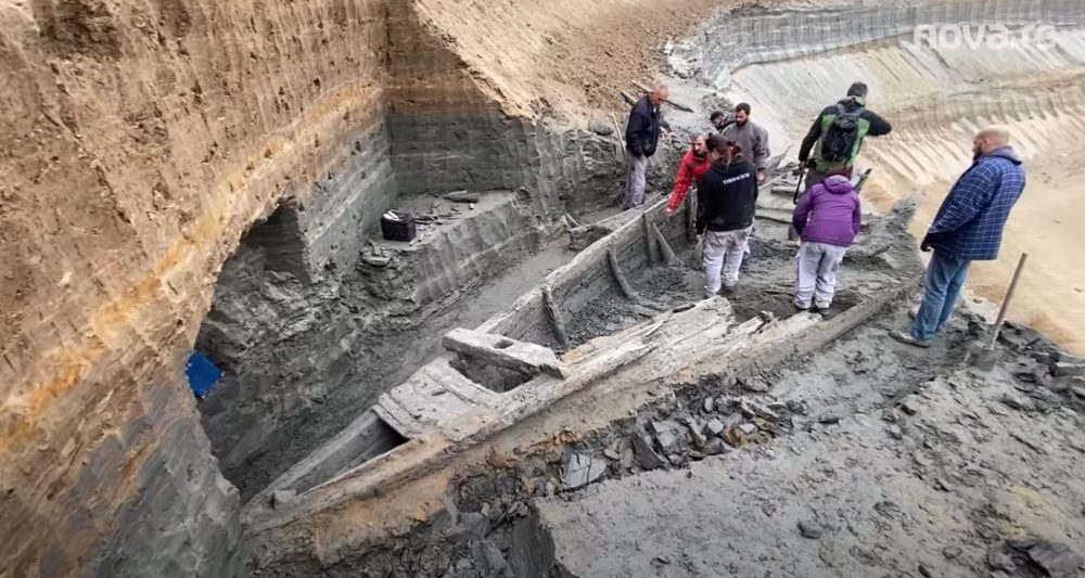 The view of one of the three ancient Roman shipwrecks discovered in Siberia. Image Credit: YouTube / Nova.rs.