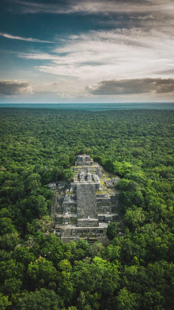 One of the tallest Maya Pyramids at Calakmul. Shutterstock.