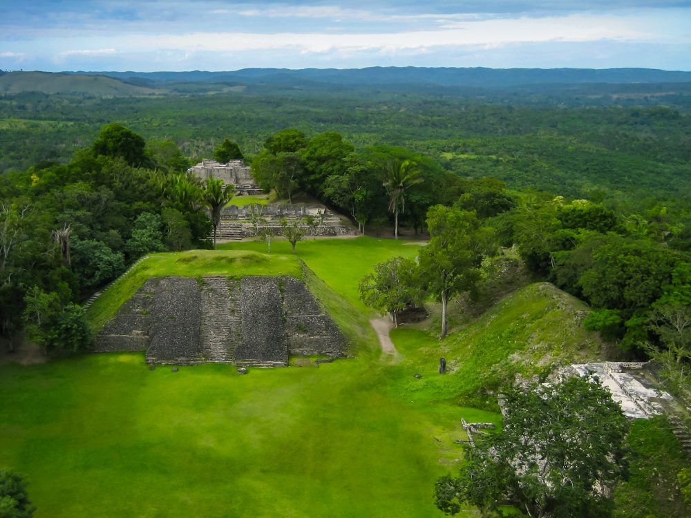 Aerial view of the Caracol Ruins. Shutterstock.