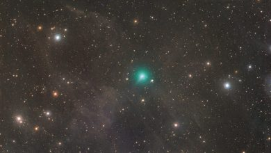 A view of Comet Atlas (Green). Comet ATLAS's coma (atmosphere) is approximately 15 arcminutes in diameter, according to Michael Jäger of Weißenkirchen, Austria. Image Credit: Michael Jäger.
