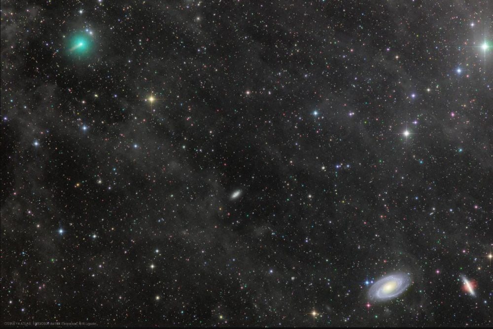 An image of Comet ATLAS and the Mighty Galaxies Image Credit & Copyright: Rolando Ligustri (CARA Project, CAST).