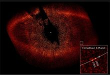 This image taken in 20018 by th eHuibble SApce telescope shows a star called Fomalhaut and what appeared to be an exoplanet dubbed Fomalhaut b around it. Image Credit: NASA, ESA and P. Kalas/University of California, Berkeley.