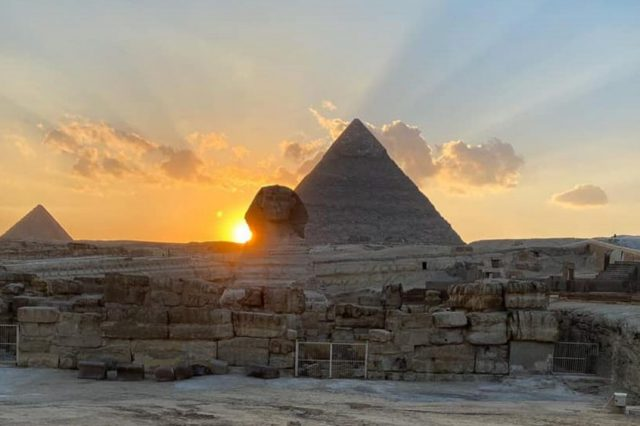 The Great Sphinx was precisely aligned with the sun. Image Credit: Egyptian Ministry of Antiquities.