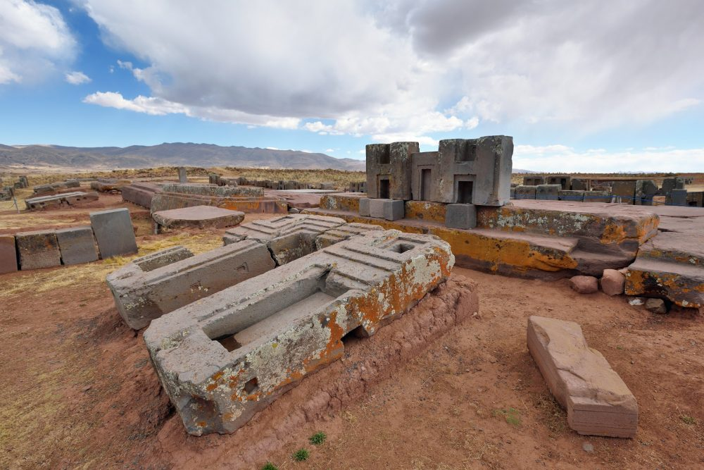 An Image of the megalithic stones at the Puma Punku platform. Shutterstock.