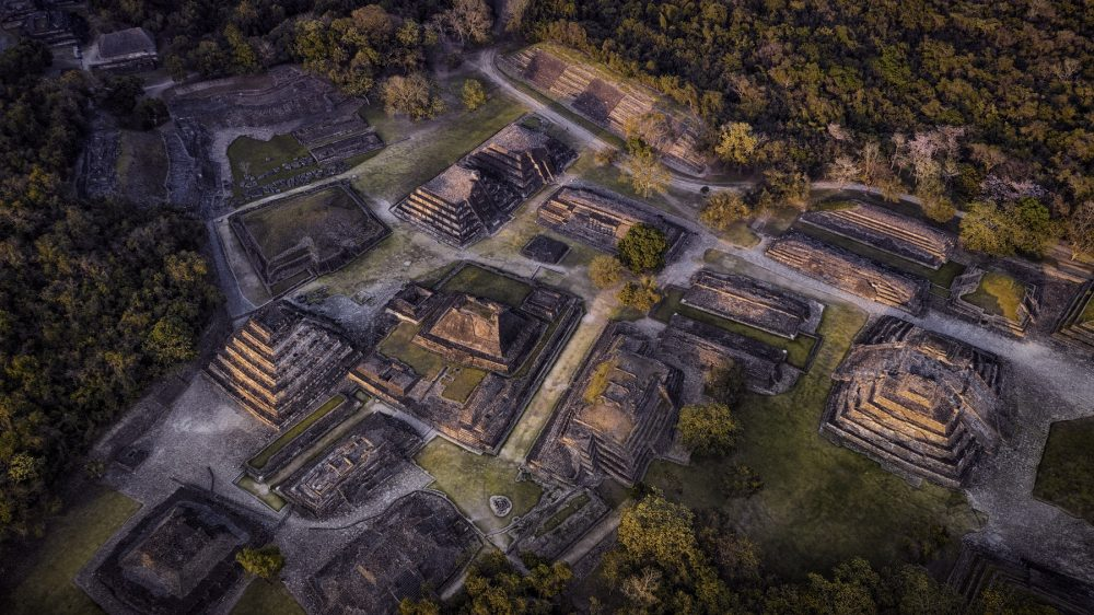 An aerial view of the ancient city of El Tajin. Shutterstock.