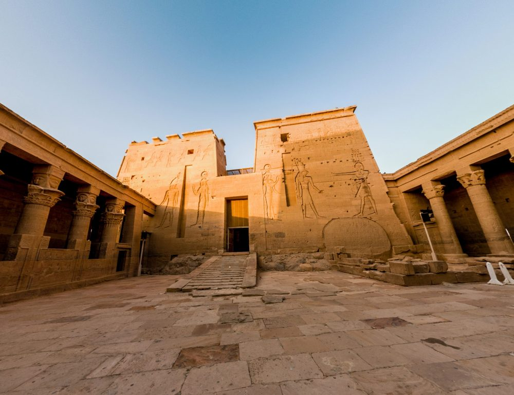 A view of the Temple of Isis. Image Credit: Describing Egypt.