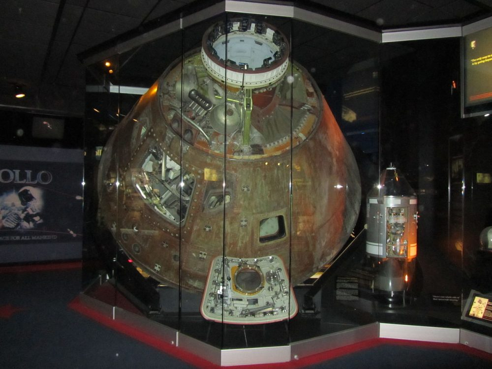 An image of the Apollo 13 command module Odyssey on display at the Cosmosphere in Hutchinson, Kansas. Image Credit: NASA / Wikimedia Commons.
