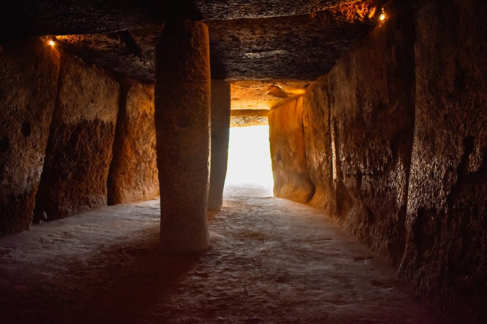 An image from inside the Antequera Dolmen. Shutterstock.