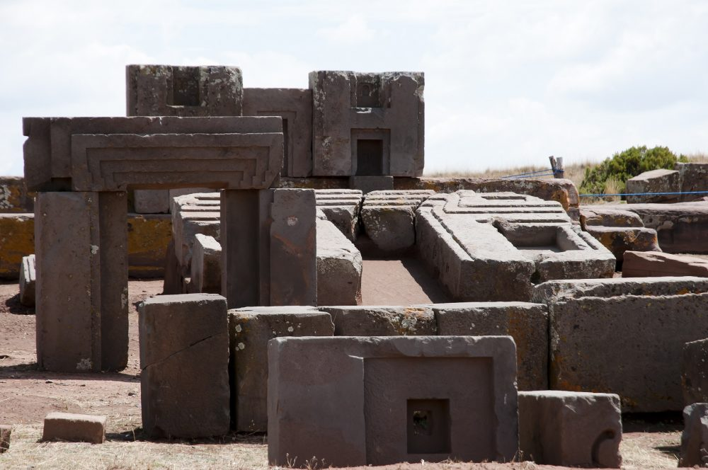 A view of the many megalithic stones found at Puma Punku. Shutterstock.