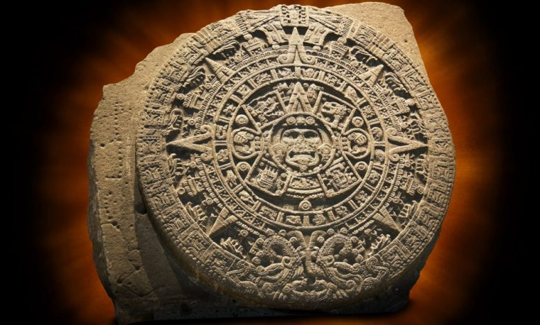 A view of the Aztec Sun Stone. Shutterstock.