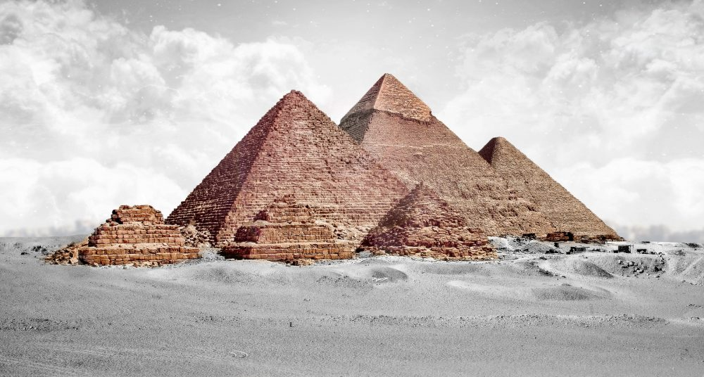 A view of the Giza plateau and the Pyramids. Shutterstock.