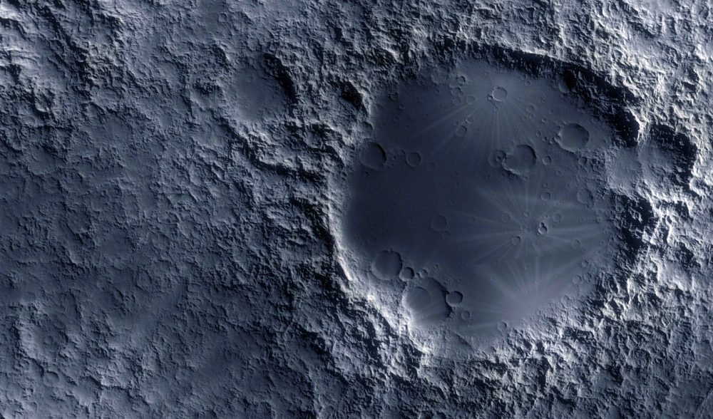 An artist's rendering of the surface of the Moon. Shutterstock.