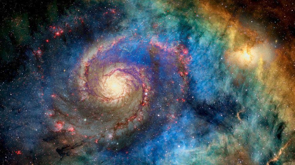 An image of a spiral galaxy. Shutterstock.