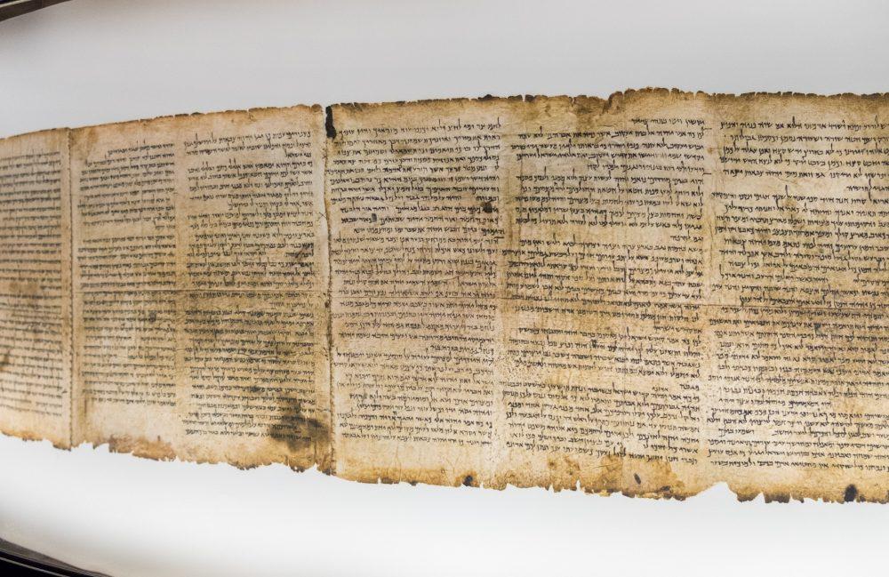 An image of the Dead Sea Scrolls. Shutterstock.