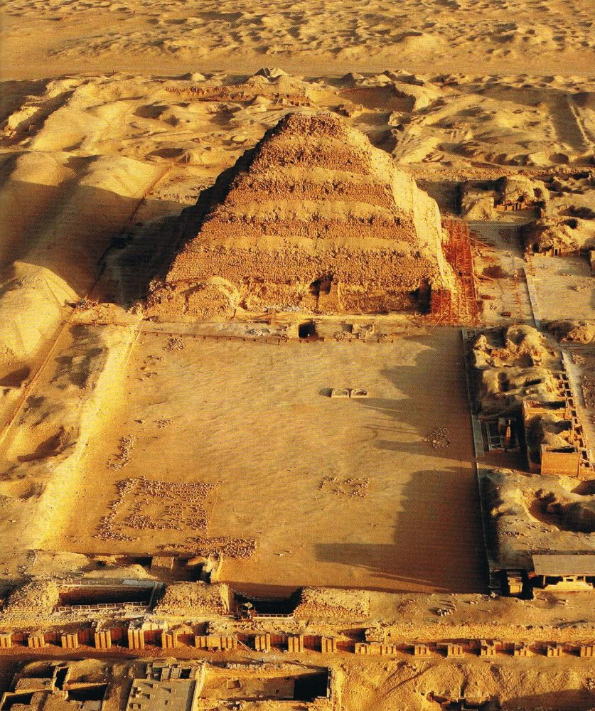 An aerial view of Djoser's Pyramid. Pinterest.
