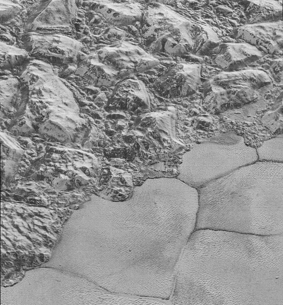 A close-up image of the dunes on Pluto's surface. Image Credit: New horizon's Spacecraft.