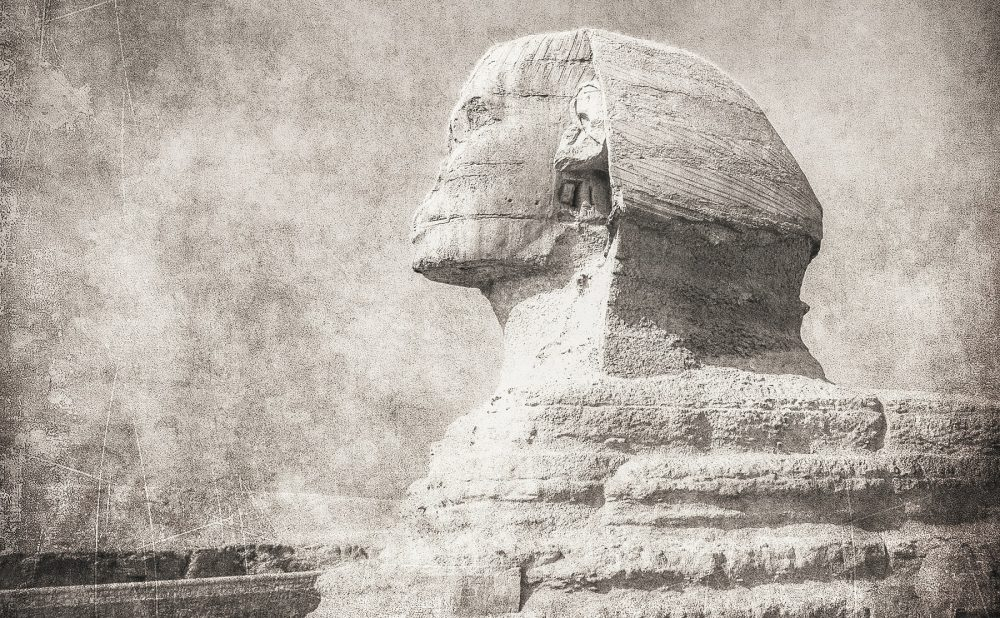 A lateral view of the Great Sphinx. Shutterstock.