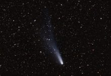 Halley's Comet, photographed during its last appearance in 1986. Shutterstock.