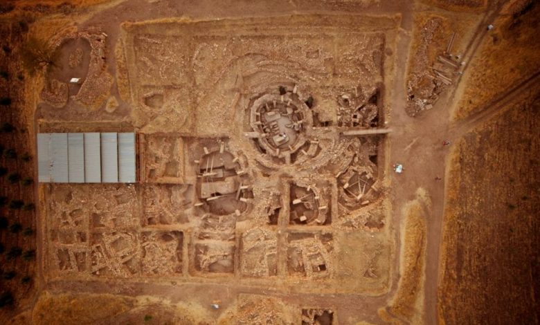 An aerial view of the main excavation site. Image Credit: DAI, Göbekli Tepe Project.