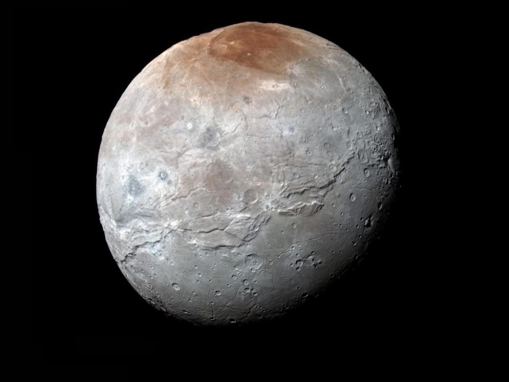 A view of Pluto's Moon Charon, captured by NASA's New Horizons Spacecraft. Image Credit: new Horizons.