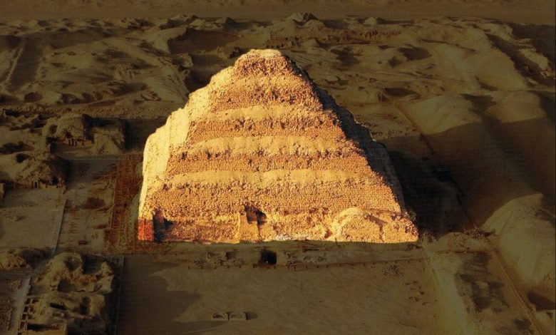 Aerial view of Djoser's Step Pyramid. Image Credit: Pinterest.