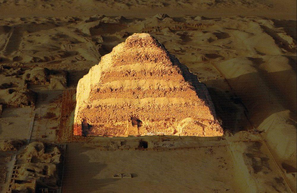Aerial view of Djoser's Step Pyramid. Image Credit: Pinterest.
