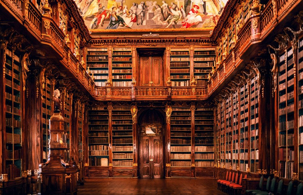 The National Library of the Czech Republic also houses books for Charles University in Prague. Shutterstock.