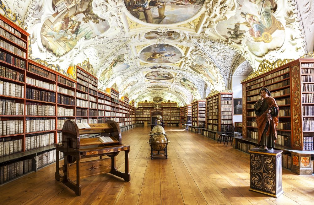 The National Library of the Czech Republic is home to 20,000 books and hundreds of thousands of other items. Shutterstock.