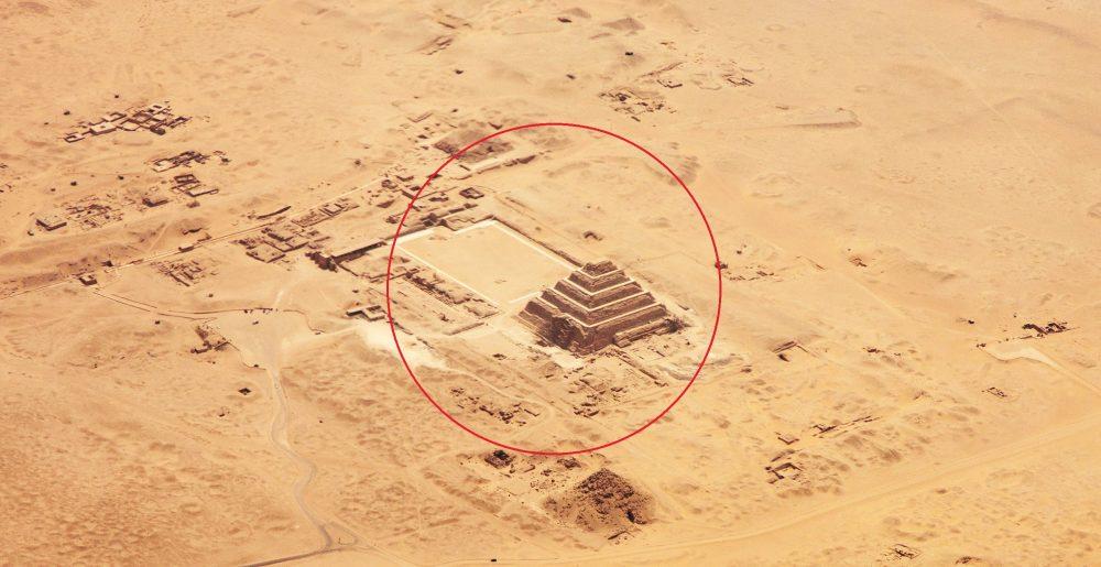 Aerial View of Djoser's Step Pyramid at Saqqara. Shutterstock.