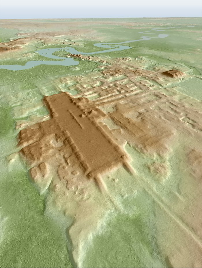 Seen here is a LiDAR image of the site. Image Credit: Takeshi Inomata.