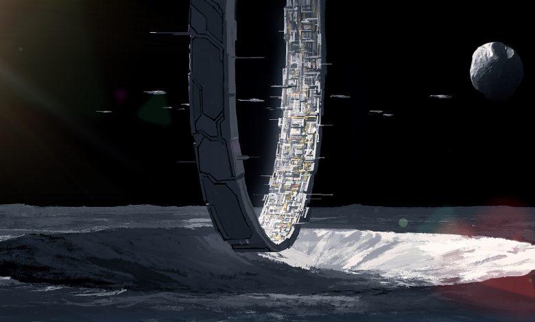 Artist's Illustration of an alien station. Shutterstock.
