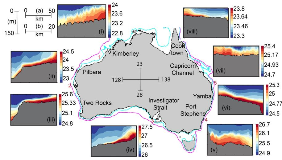 The occurrence of DSWC at the eight different locations around Australia. Image Credit: Nature.