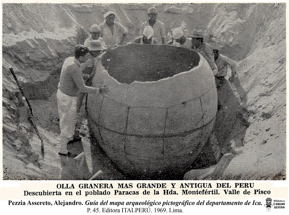 The massive clay pot was discovered in 1966. Image Credit: Editora ItaPeru.