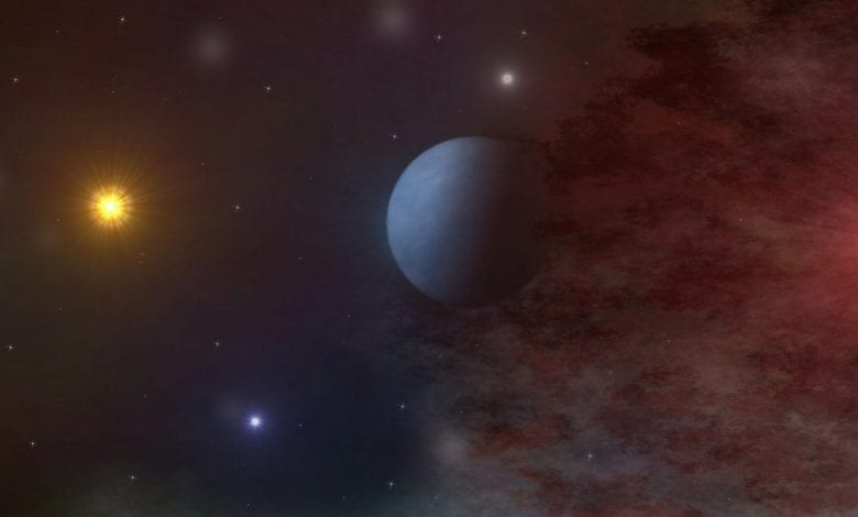 An artists illustration of a distant exoplanet. Shutterstock.