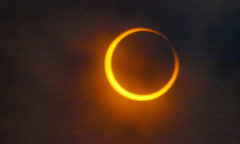 An image of a annular eclipse. Jumpstory.