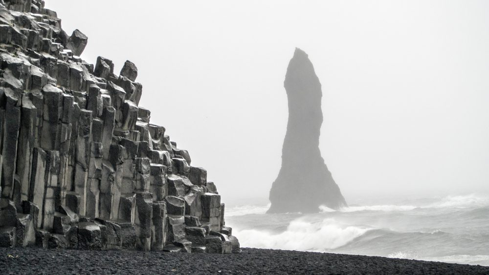 A view of Iceland's famous Black Sand beaches. Jumpstory.