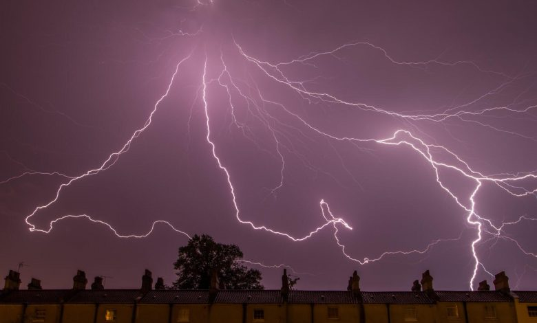 An image of a stunning lightning strike. Jumpstory.