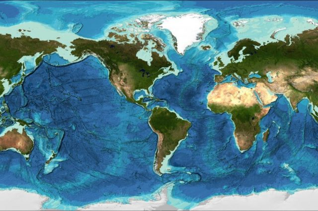 A map of the seabed. Image Credit: Seabed 2030.