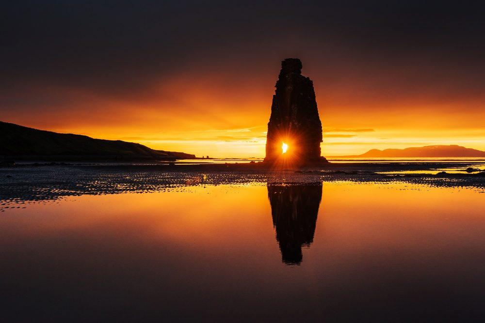 Sunset on a lake. Shutterstock.